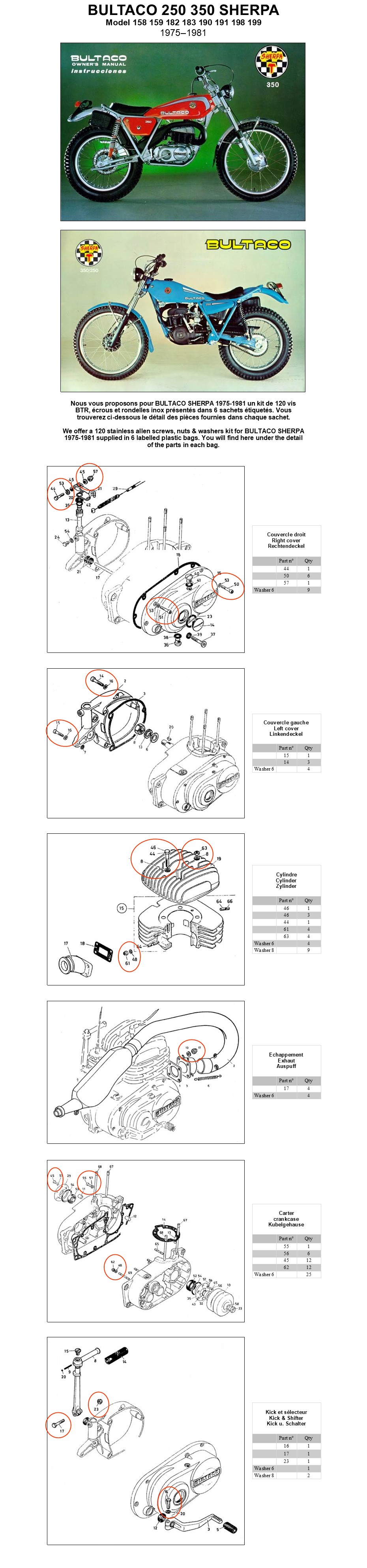 Bultaco Engine Diagram Ignition Wiring Each Kit Is Supplied With An Internet Address Of The Mounting Drawing For Screw