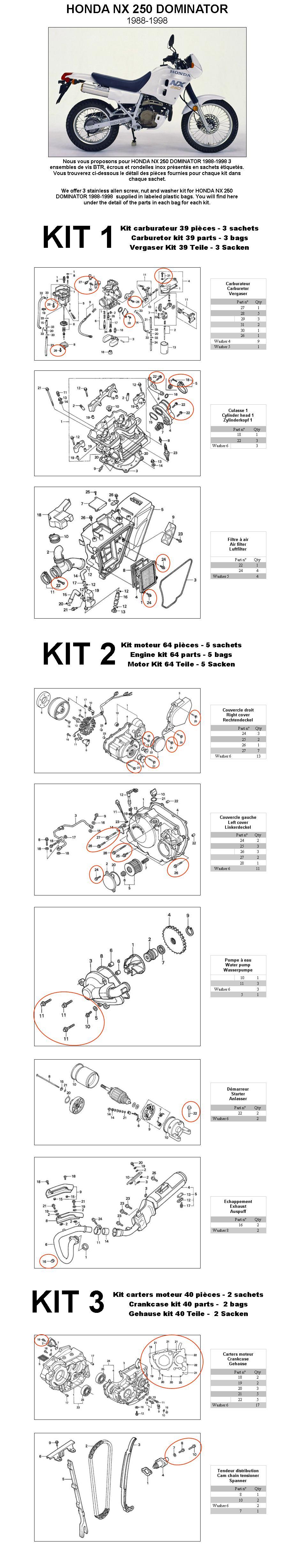1988 Honda Nx250 Wiring Diagram Detailed Schematics Zb50 Nx 250 Dominator 1998